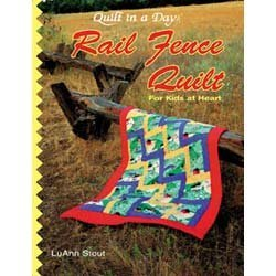 Rail fence quilt for kids at heart